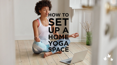 How to set up a home yoga space