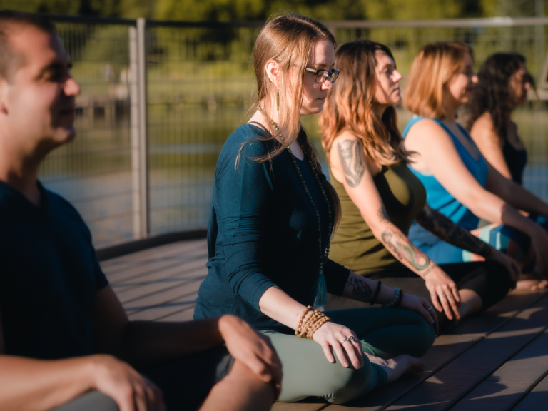 We offer online mindfulness and chair yoga classes to hospitals, businesses, and organizations