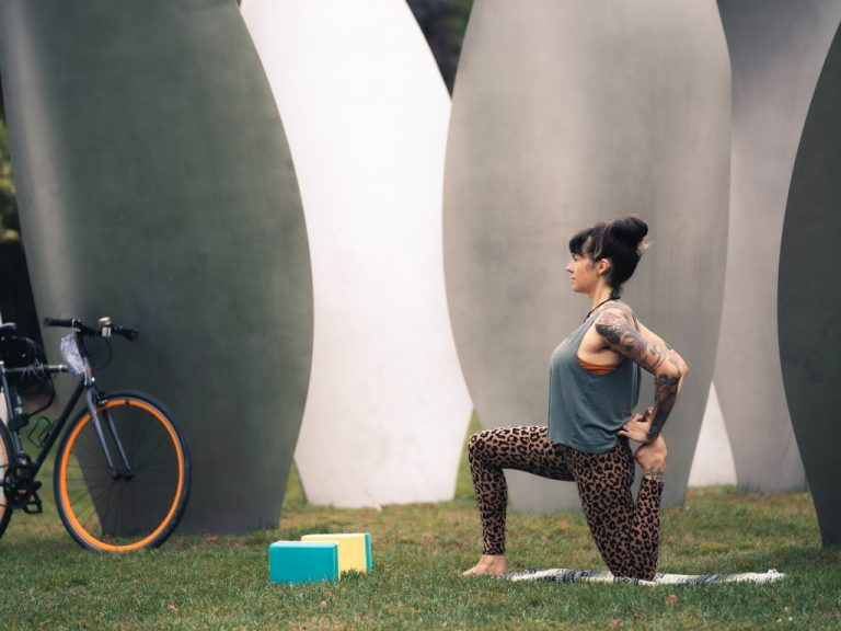 Bicycle Yoga Stretches
